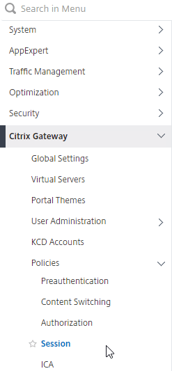ICA Proxy (StoreFront) – NetScaler Gateway 12 / Citrix