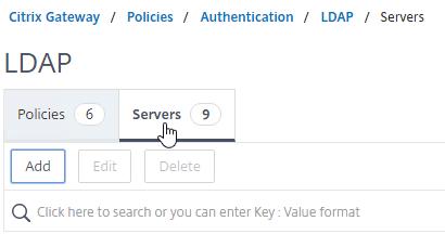 LDAP Authentication – NetScaler Gateway 12 / Citrix Gateway 12 1