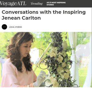 Voyage ATL magazine interview with Jenean Carlton of CarltonsCakes.com