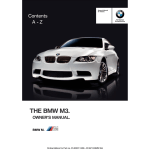 Bmw M3 Convertible 2013 E93 Owner S Manual 311 Pages