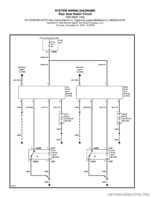 BMW 740il 1995 E38 System Wiring Diagrams
