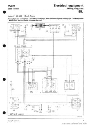 Fiat Bravo Brava Repair Service Manual And Wiring Diagrams