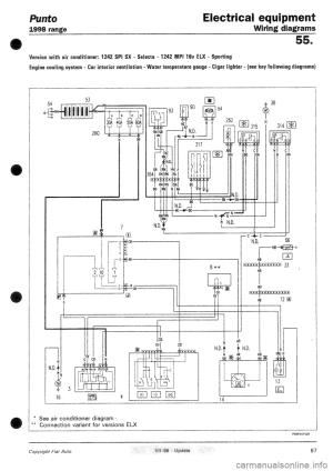 FIAT PUNTO 1998 176  1G Wiring Diagrams Workshop Manual