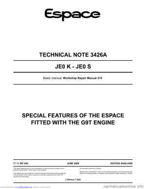 Renault Espace Fuse Box Manual   Wiring Library