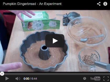 pumpkin gingerbread video