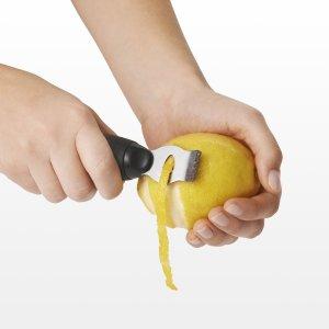 Using the OXO Good Grips Lemon Zester's Channel Knife