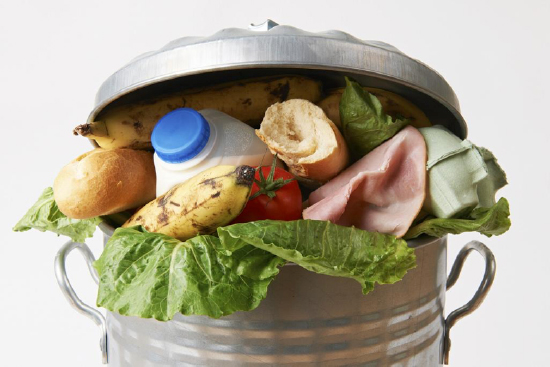 wasted food in your trash