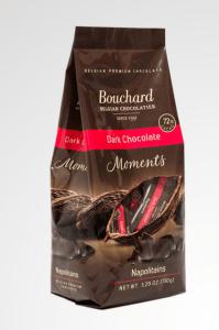 Dark chocolate Napolitains by Bouchard Chocolate
