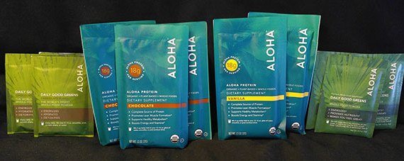 Aloha products, protein powders and greens