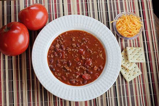 budget meal - chile con carne