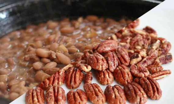 pinto beans and pecans