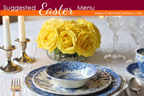 suggested easter menu