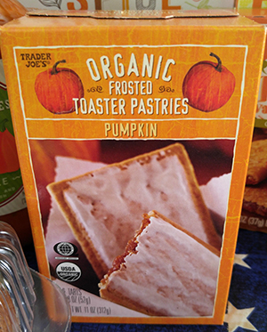 Trader Joe's Organic Frosted Toaster Pastries, Pumpkin