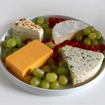 health snack idea - cheese and fruit plate