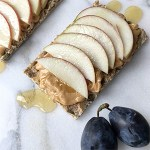 healthy snack idea - peanut butter and apple