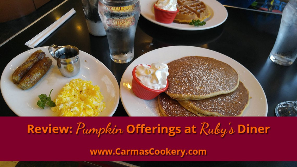 Review: Pumpkin Offerings at Ruby's Diner