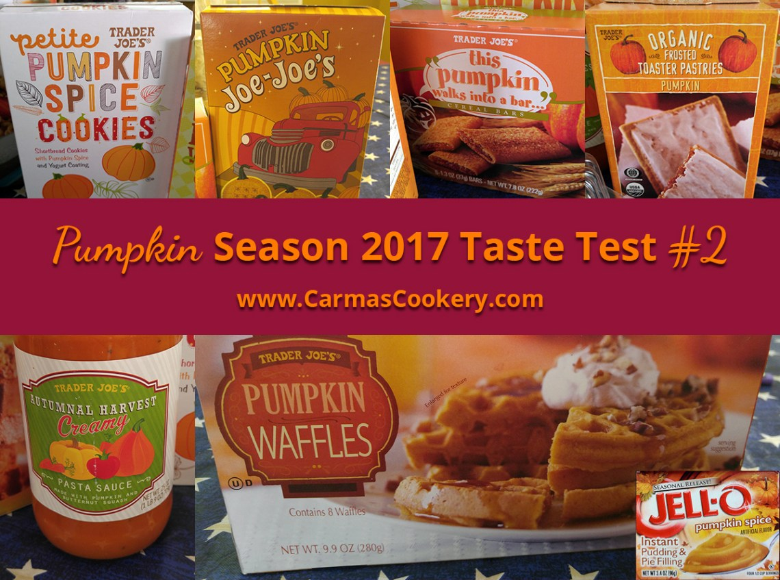 Pumpkin Season 2017 Taste Test #2