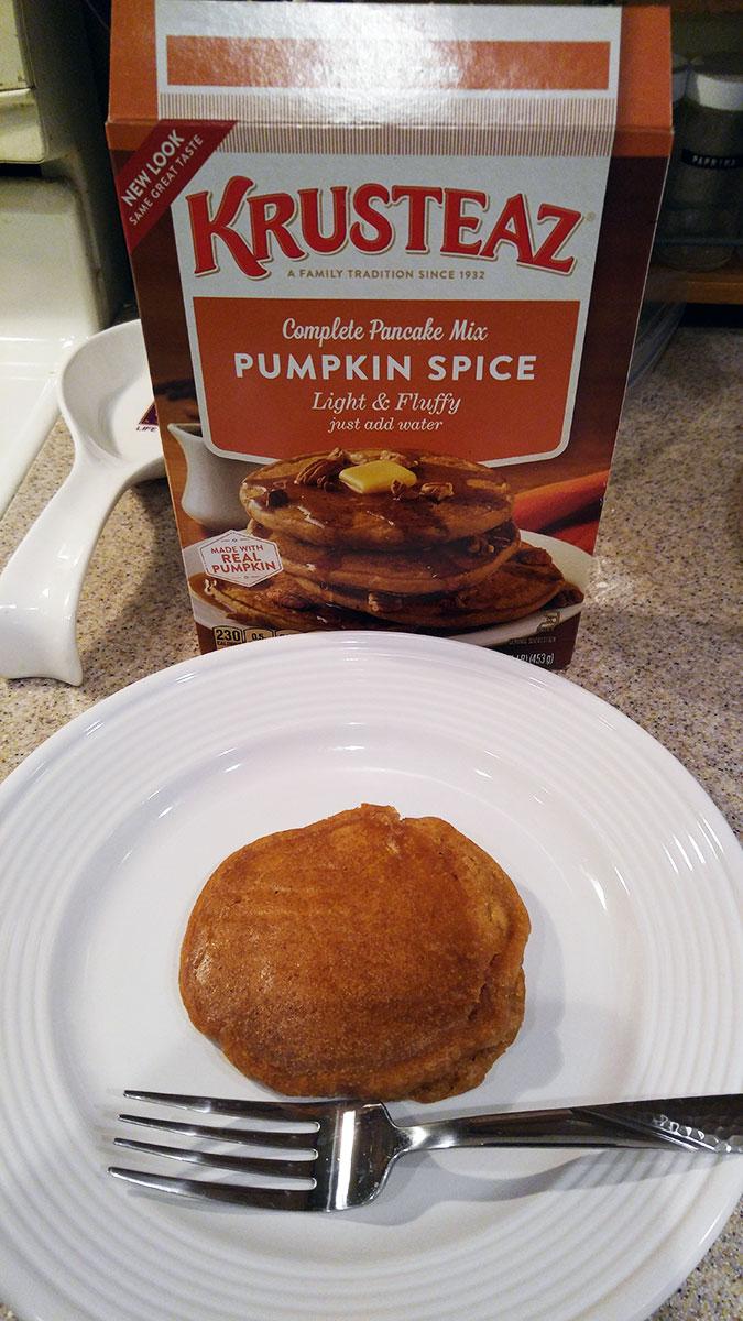 Krusteaz pumpkin pancake