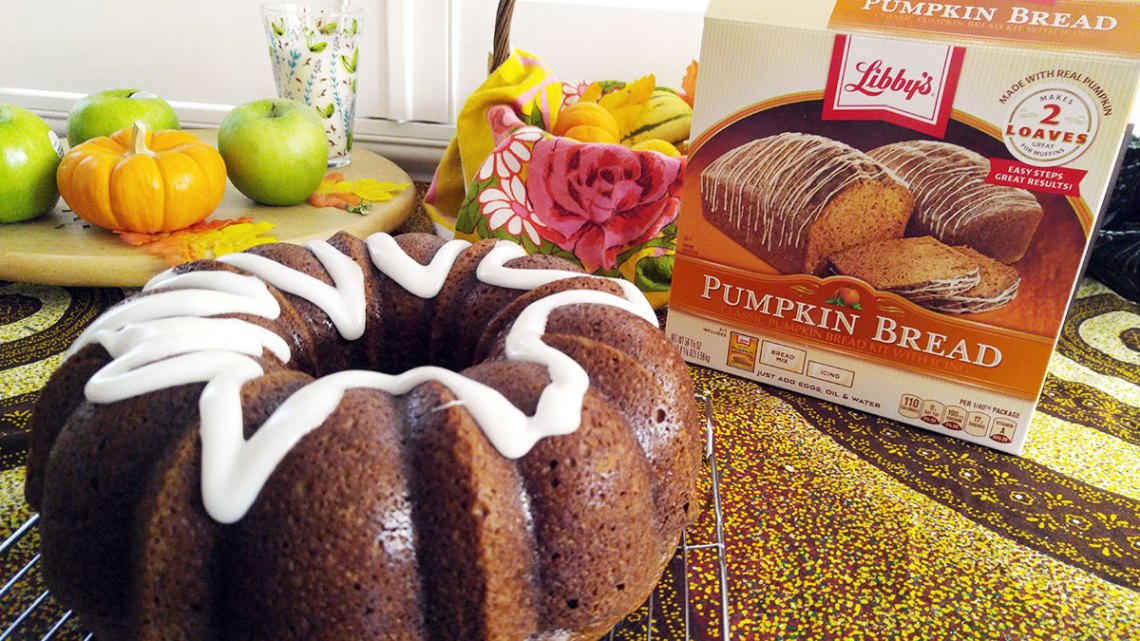 Libby's pumpkin bread with icing