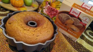 Libby's pumpkin bread fresh from the oven