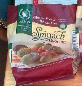 Caesar's Spinach Gnocchi