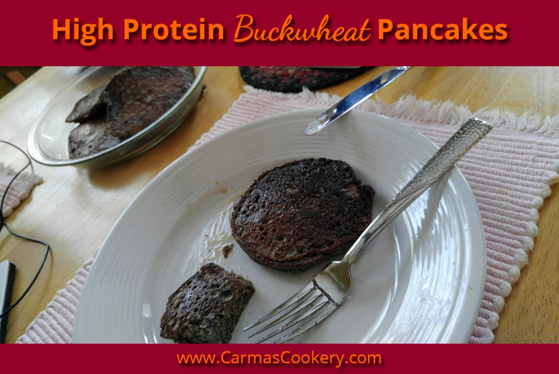High Protein Buckwheat Pancakes