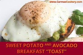 """Sweet Potato and Avocado Breakfast """"Toast"""""""