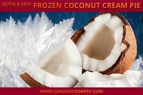Quick & Easy Frozen Coconut Cream Pie