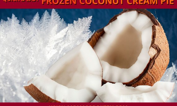 Quick & Easy Frozen Coconut Cream Pie