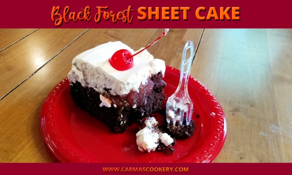 black forest sheet cake
