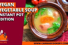 Vegan Vegetable Soup, Instant Pot Edition