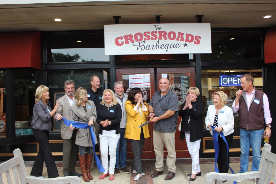 Crossroads BBQ Ribbon Cutting