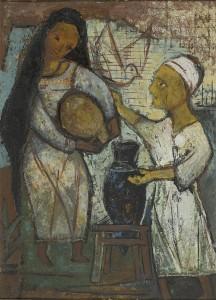 Peinture de Tahia Halim (1909-2003), peintre égyptienne.