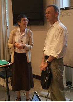 Sr Anne Marie et Fr Aloïs, prieur de Taizé.