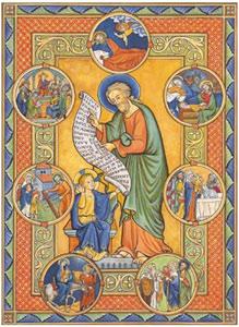 Icône-St-Joseph-et-les-évènements-de-sa-vie;--réalisée-par-une-religieuse-bénédictine-de-l'Abbaye-de-Notre-Dame-de-Fidélité-de-Joucques