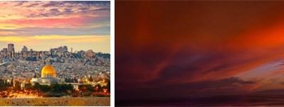 Jérusalem et ciel embrasé