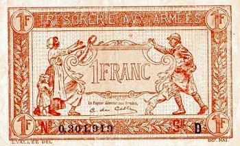 Billet argent 1 franc
