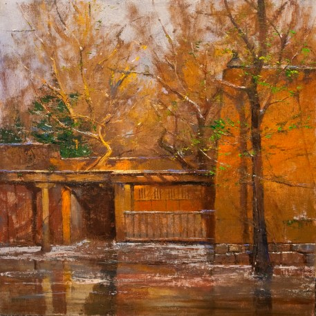 """Spring Thaw - Evening Light"" Oil"