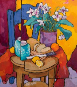 Angus_Wilson_Bread_and_lemons_with_blue_chair