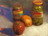 jars and fruit 12x16