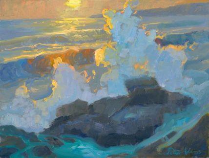 Peter Adams Shorebreak on the Rocks