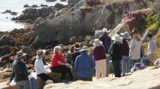 Matt Smith begins his demo at Lover's Point in Pacific Grove