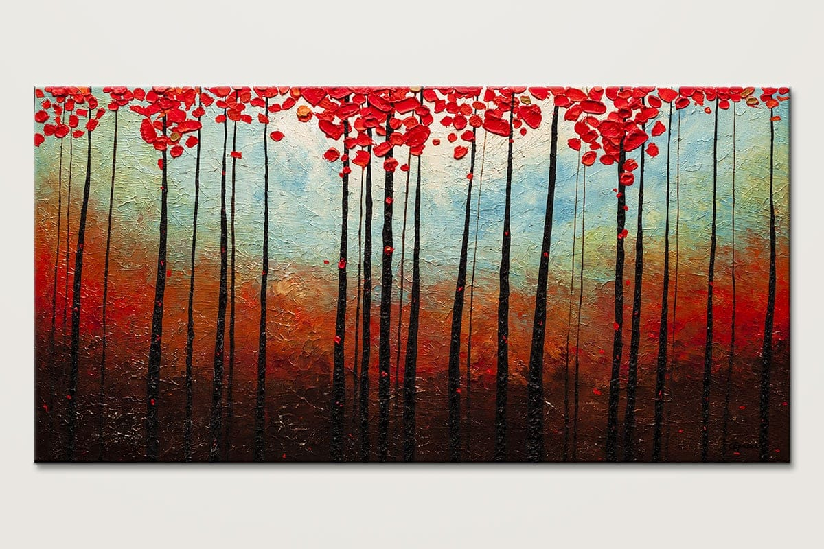 Change of Seasons - Landscape Trees Abstract Painting