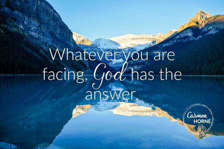 God has your answer
