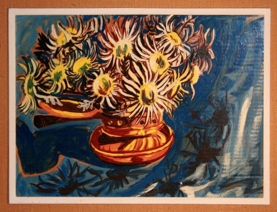 olio su carta da macellaio - 50 x 35 cm - 1968