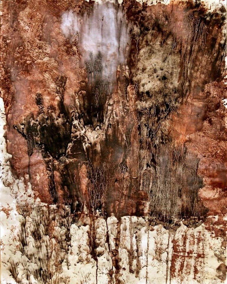 terre e resine naturali su carta intelata - 60 x 80 cm - 2006