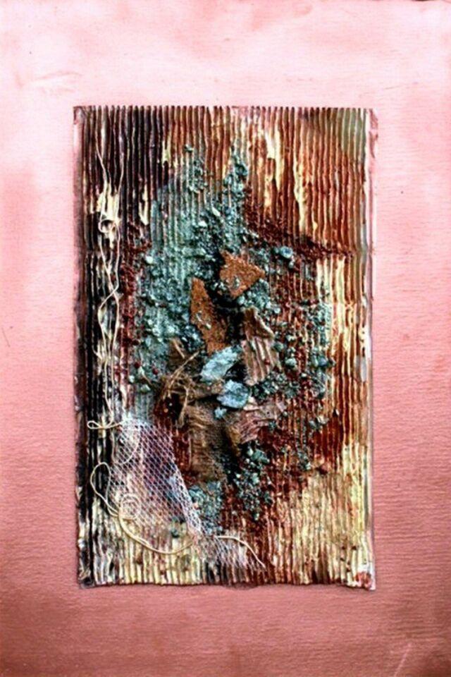 polimaterico su cartone rigato - 30 x 60 cm - 2009