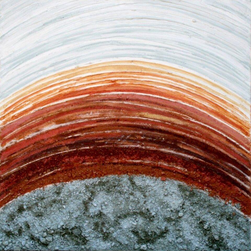 terre, resine naturali e oro su tela - 100 x 100 cm - 2009