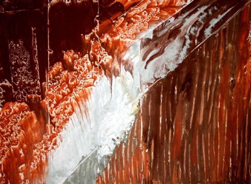 terra e resine naturali su carta intelata - 100 x 70 cm - 2013
