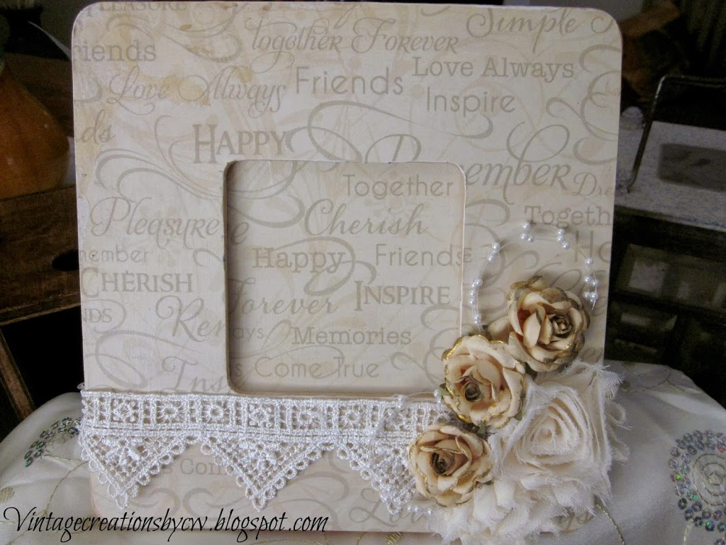 Vintage wedding scrapbook ideas - I Created This Mixed Media 4 X 12 Deep Edge Canvas And It S Now Part Of This Vignette At It S Vintage Charm The Hearts Are Made Of Vintage Inspired